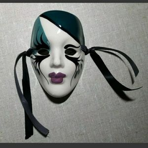 {Mystical Masque} Ceramic Wall Mask